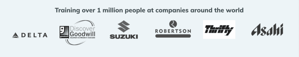 Training over 1 million people at companies around the world