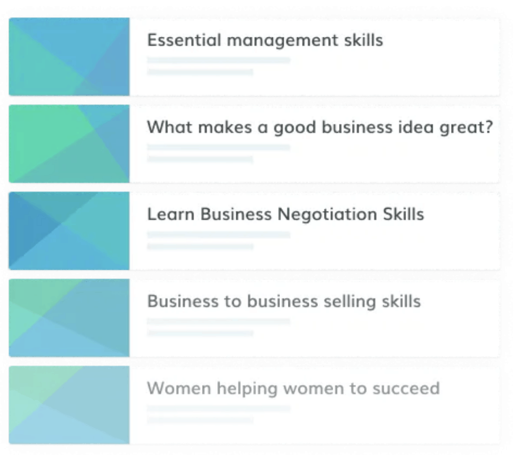 Online business skills courses