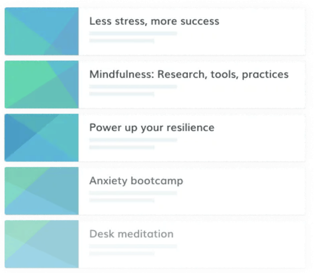 Online health and wellbeing courses